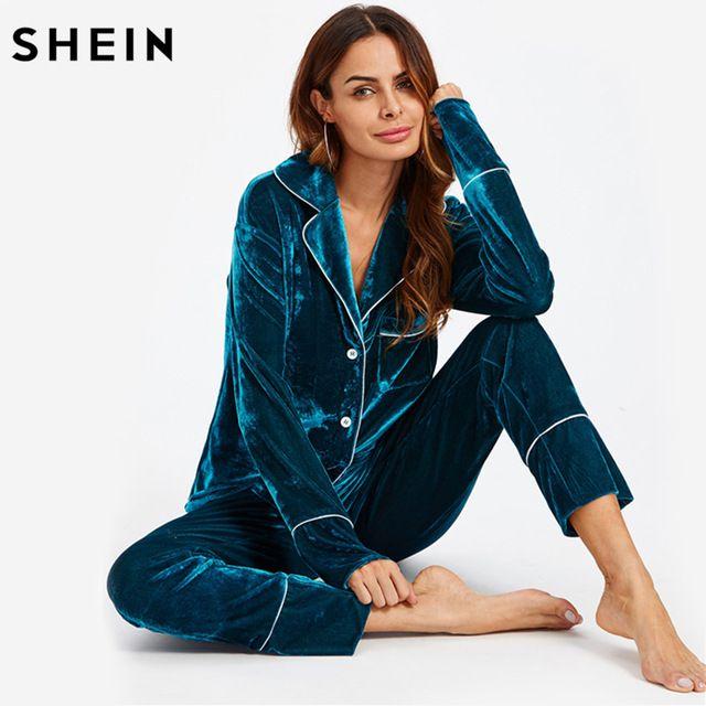 Magnificent velor pajamas in deep blue | Великолепная велюровая пижама в глубоком синем цвете