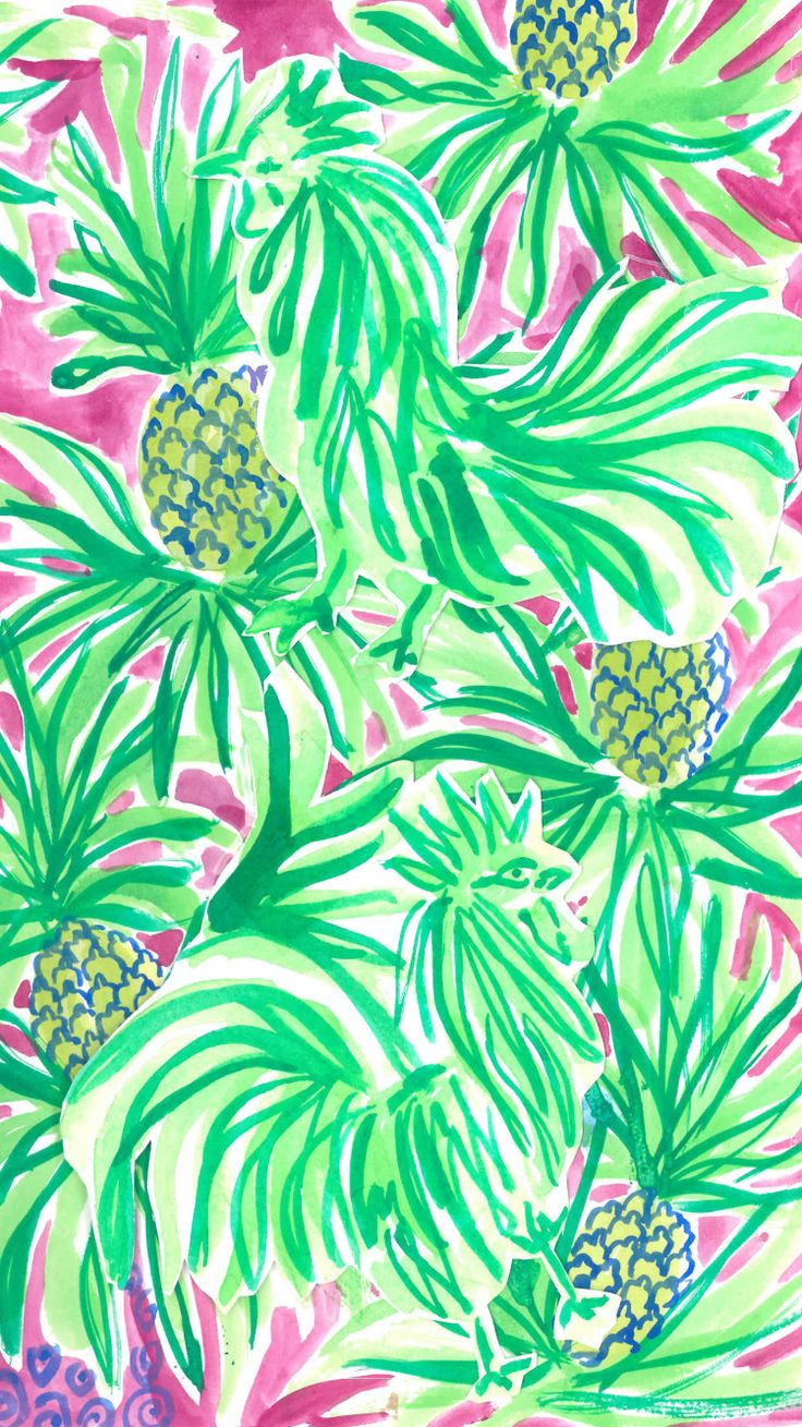 Wallpaper iphone pineapple - Lilly Pulitzer Iphone Wallpaper