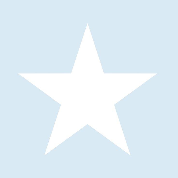 Vliestapete \'XL-Stern\' hellblau/warmweiß