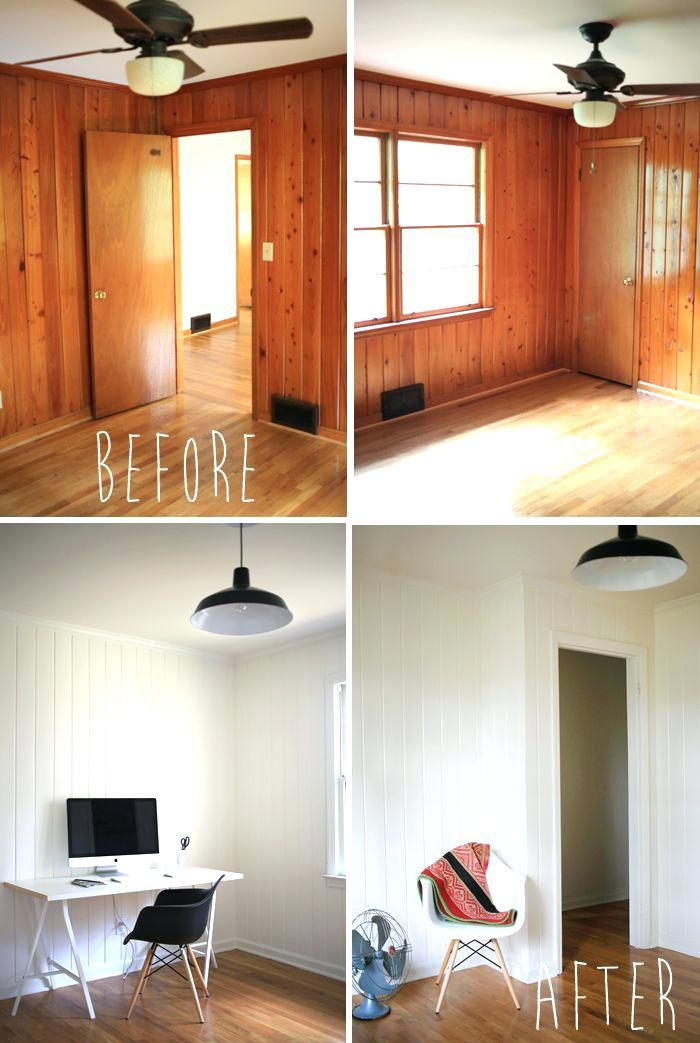 Painting Interior Wood Painted Panelling Before And