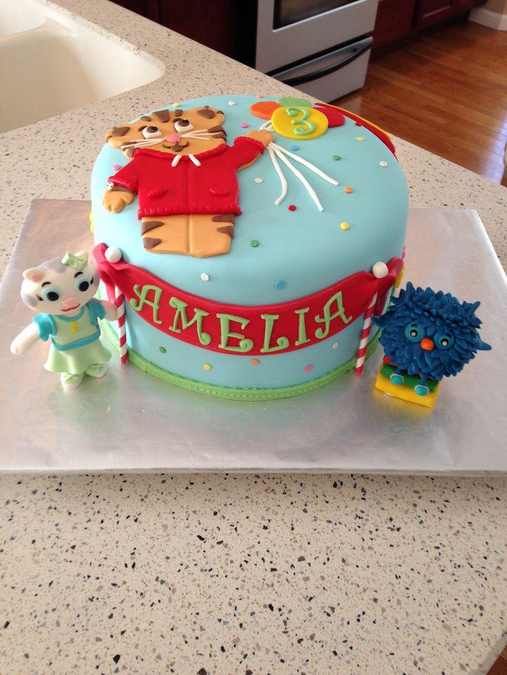 Daniel Tigers Neighborhood Tiger Cake Cakepins Com