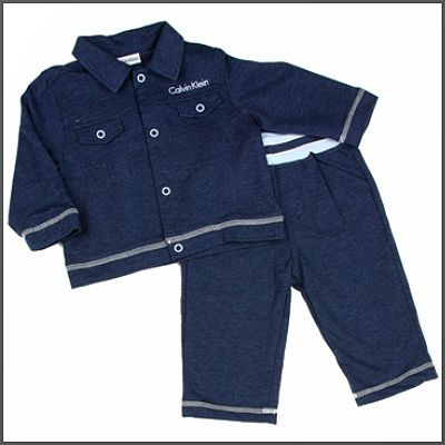 Calvin Klein Fleece Jacket & Pants. Dress your little guy is style! This trendy 2 piece fleece jacket and pants set will have your little guy looking like the trendiest tot in town! Made in heather blue, comfy material he'll be sure to receive many a compliment!