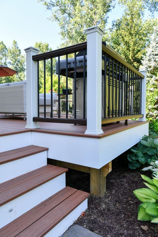 Lansing deck building outdoor living custom decks deck builder okemos mi · swimming pool
