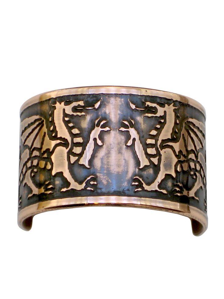 Welsh Dragons Celtic Copper Ponytail Holder CC-7 Image 1