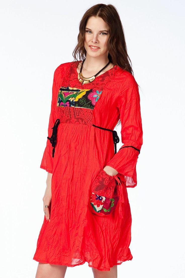 Otantik Köyceğiz Elbise - Mercan