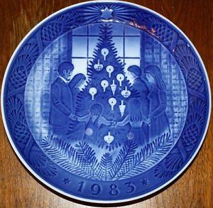 royal copenhagen christmas plates 1983 - Google Search