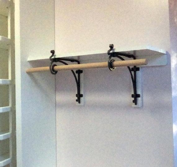 Image Result For Shelf Bracket With Hanging Rod Shelves Steel Shelf Brackets Shelf Brackets