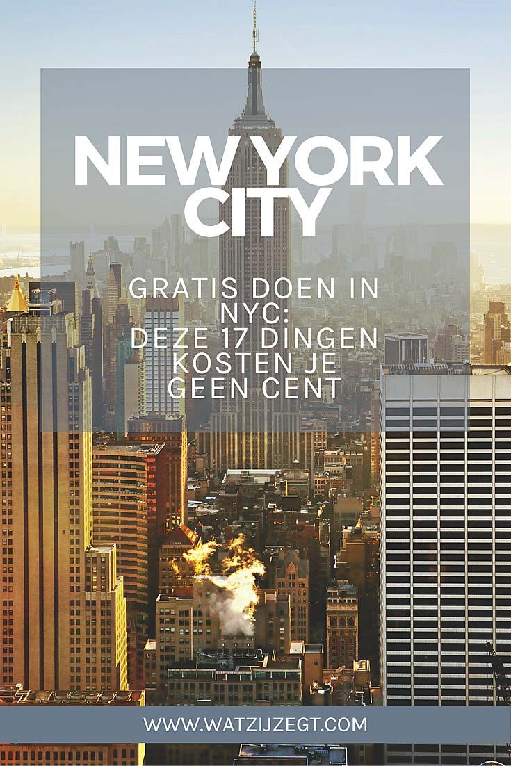 NYC // Gratis doen in New York City // free things to do in New York City