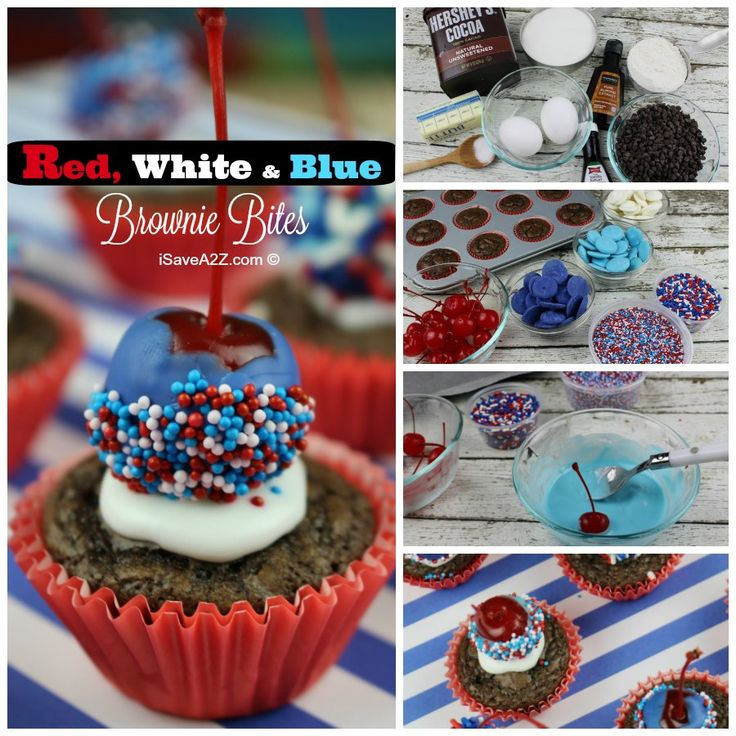 Red, White, and Blue Brownie Bites - iSaveA2Z.com