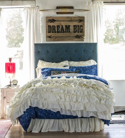 This bed set has all the Junk Gypsy style elements.