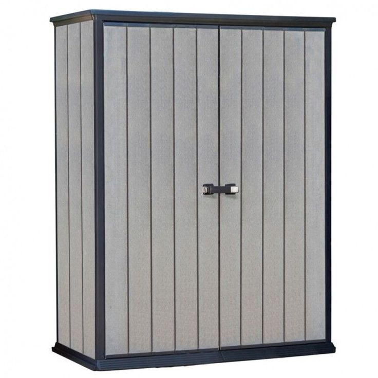 Garden House Shed Storage Outdoors Patio Furniture Modern Style Cabinet Grey #GardenHouseShed