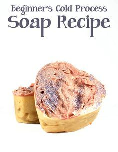 Beginner Cold Process Soap Recipe // Try this easy beginner cold process soap recipe to get you started in soapmaking. This easy cold process soap recipe requires just three inexpensive soapmaking oils that can be sourced at most grocery stores. There are also several substitutions that you can use for the main ingredient that won't require you to recalculate the amount of lye needed!
