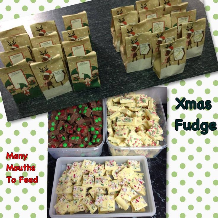 Xmas colour decorated fudge made by myself for home made gifts  for friends family and teachers
