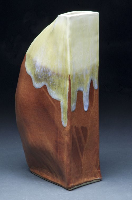 Sculptural Vase  Hand-built sculptural vase. White stoneware fired to cone 6. Item not for sale.