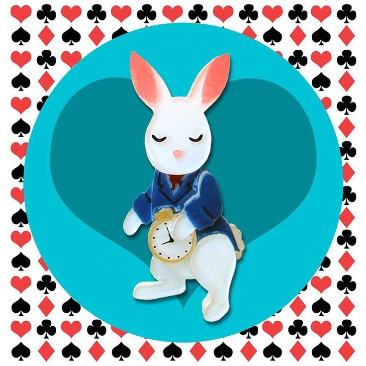 The first of my Wonderland brooches has arrived! This White Rabbit is the most complicated piece I've ever made, but I love how he turned out. I hope you do, too!   @tangerinemenagerie on Instagram