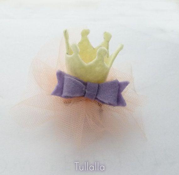 Coroncina Corona Fatta a Mano in Feltro e Tulle di Tullalla