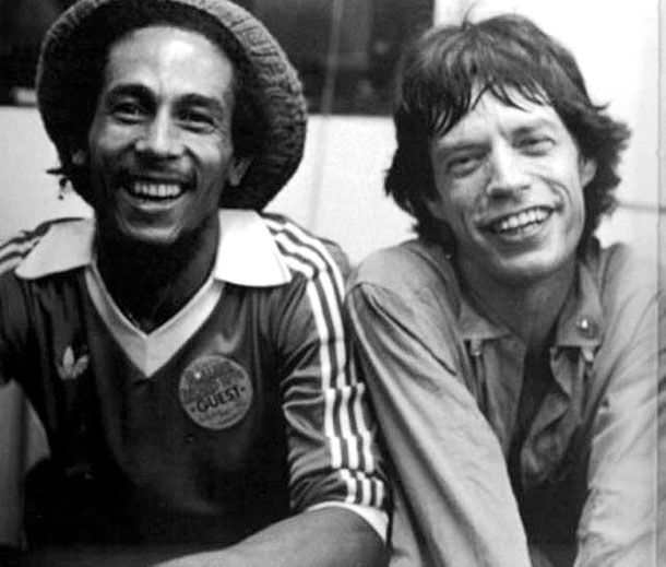 Bob Marley and Mick Jagger - Iconic Black And White Celebrity Photographs