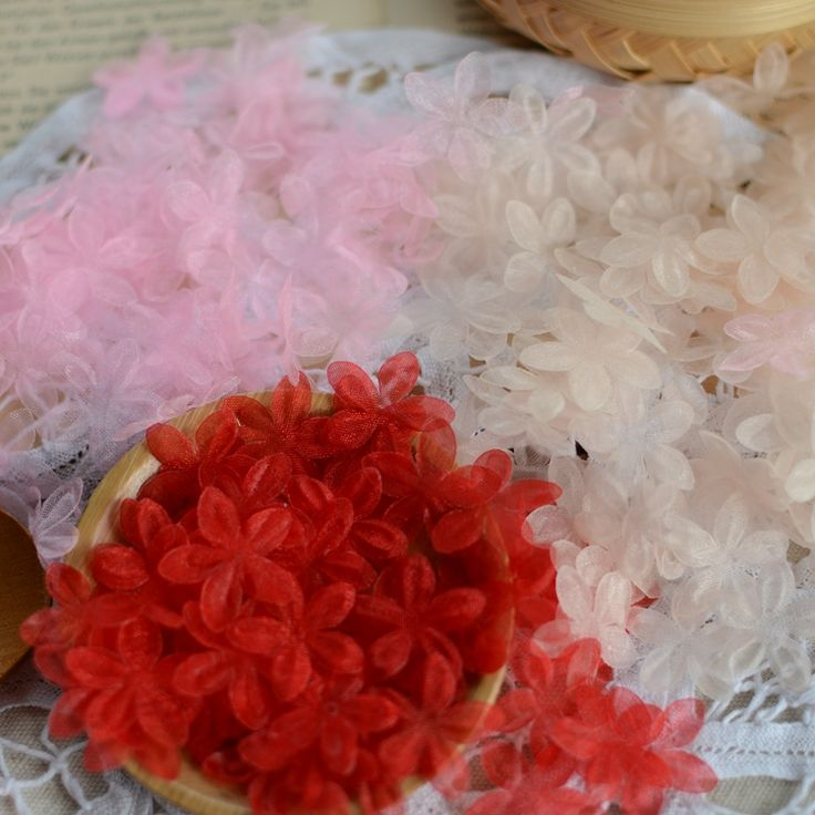 0,16/1  3 color into perspective gauze crushed flower hair accessories-in Lace from Home & Garden on Aliexpress.com | Alibaba Group