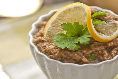 Greek Food - Melitzanosalata Eggplant Dip Recipe