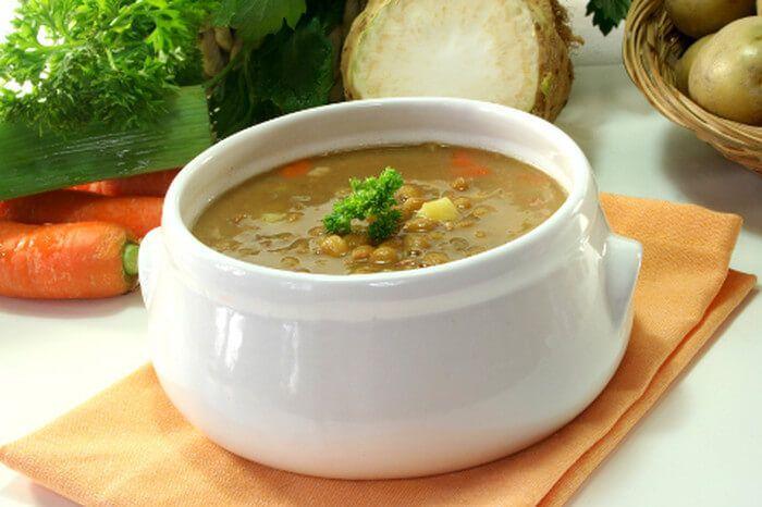 Изысканный постный итальянский грибной суп с чечевицей оживит меню и порадует домочадцев