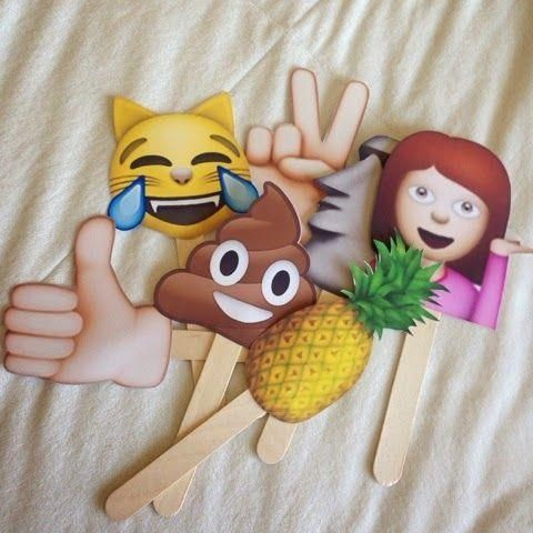 Emoji signs for parties