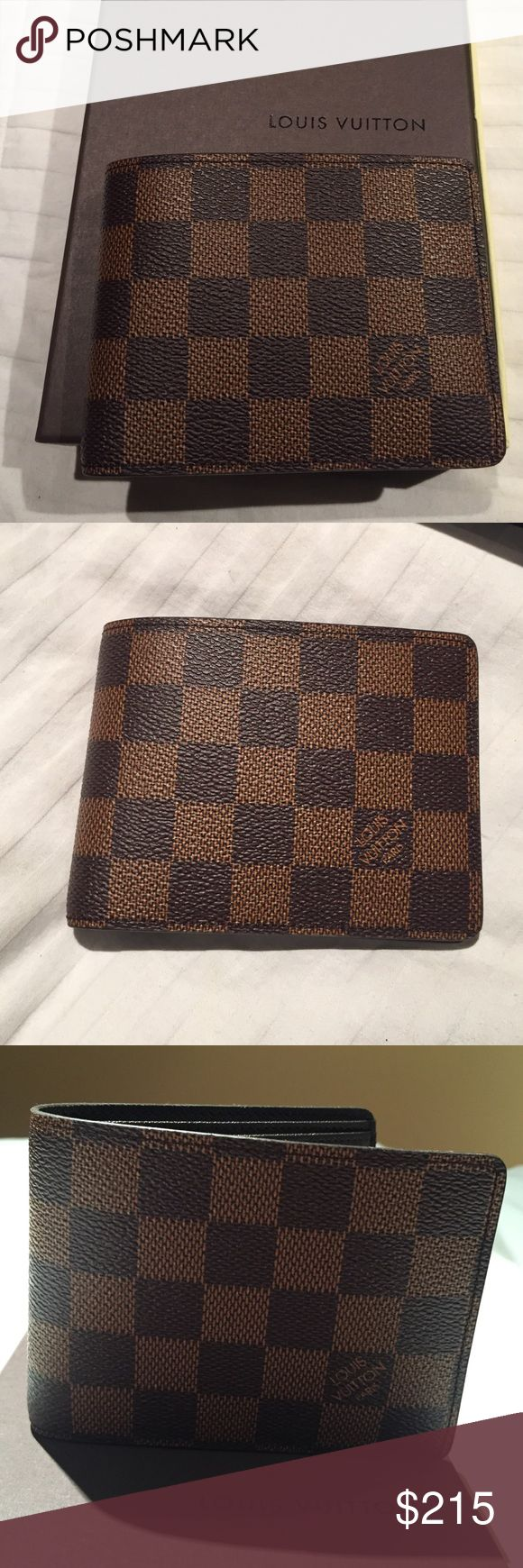 Louis Vuitton Damier Ebene Canvas men's wallet Brand new. Never used! Authentic! Has date code. Comes with box and dust bag. Louis Vuitton Accessories