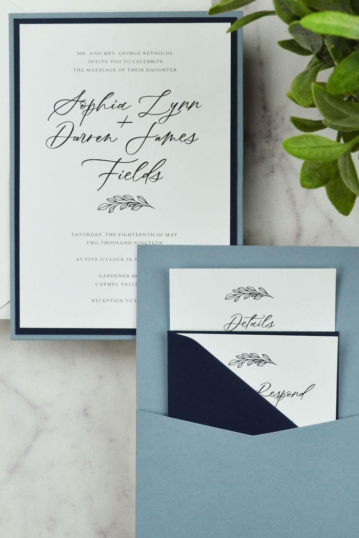 Diy Minimal Panel Pocket Invitation