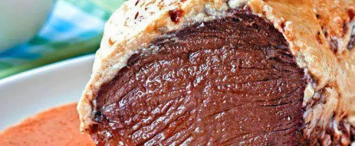 Receita de Alcatra assada com maionese. Receitas deliciosas e muito mais você encontra em Saborosa Receita, seu site de culinária.