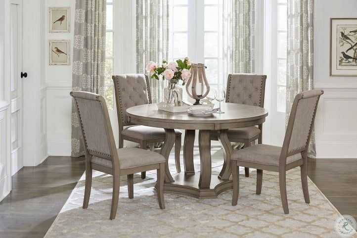 Vermillion Neutral Tone Cream Bisque Side Chair Set Of 2 In 2021 Round Dining Room Sets Round Dining Room Round Dining Table Sets