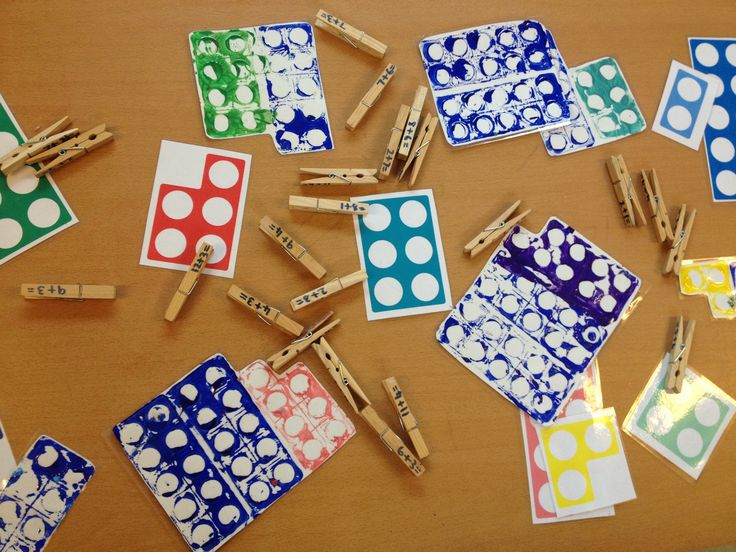 Printing with numicon then laminating. I then used it for calculations on pegs!