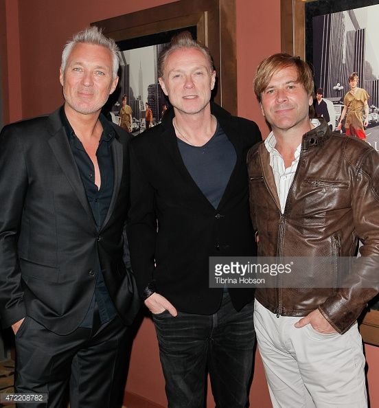 Martin Kemp, Gary Kemp and Steve Norman of Spandau Ballet attend the premiere of 'Soul Boys of the Western World: Spandau Ballet' at Sundance Cinema on May 4, 2015 in Los Angeles, California.
