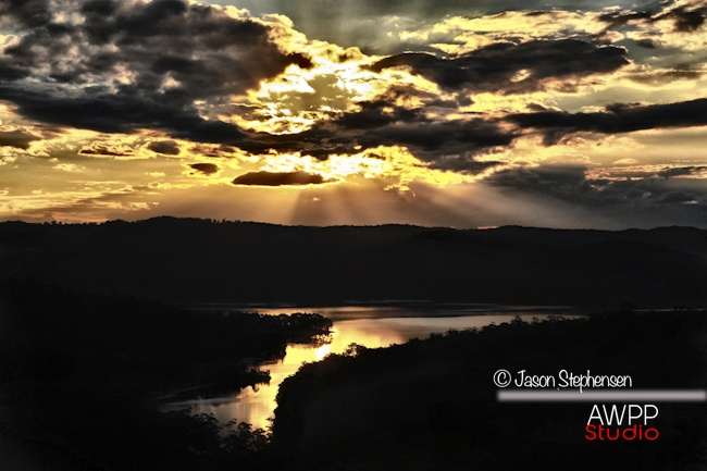 HDR Sunset over Lake Baroon, Montville Qld.