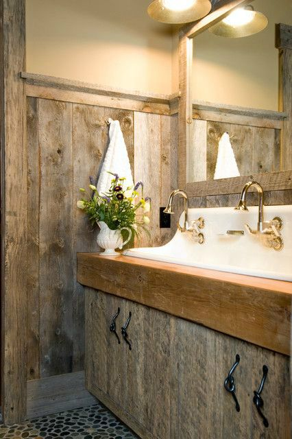 20 Extra Rustic Bathroom Designs 5