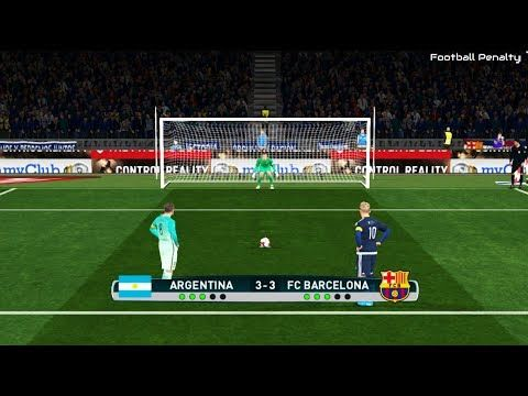 Argentina vs FC Barcelona | Penalty Shootout | PES 2017 Gameplay