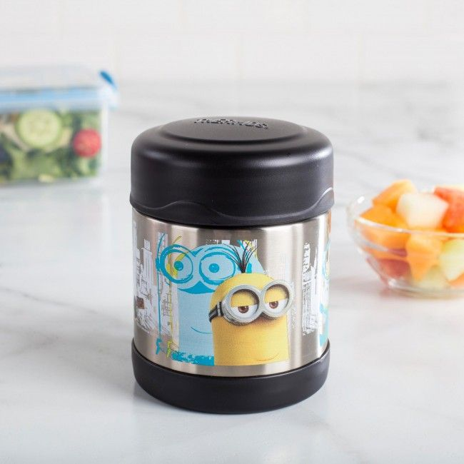 Keep your lunch hot or cold with the Thermos 'Minions' Thermal Food Storage Jar. Double wall vacuum insulation keeps hot things not for 5 hours and cold things cold for 7 hours.