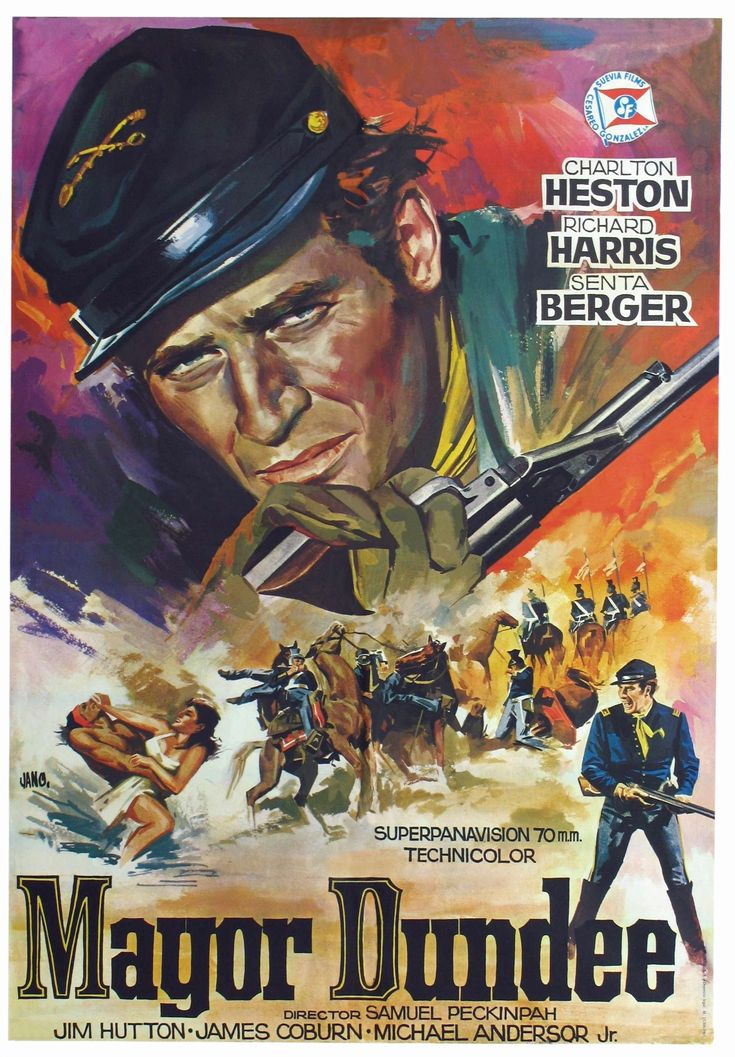 """Major Dundee"" (1964). Director: Sam Peckinpah."