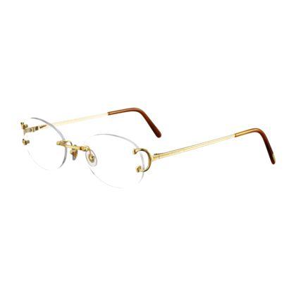 5298b0e1388 C Decor Classic - Golden finish metal - Fine Prescription glasses for men  and for women - Cartier