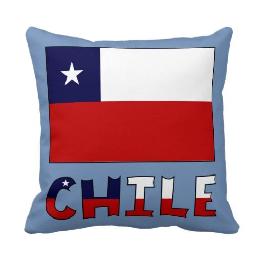 #Chile Flag and Name in Color. Great for travelers who want to recall their trip, vacation or holiday. Also, a wonderful way to share your #Chilean heritage, celebrate your culture and honor your ancestry. @Auntie Shoe created this design.