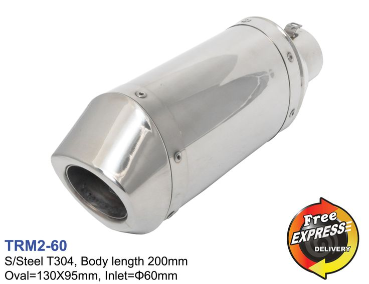 100% Brand New 100% High Quality S/Steel T304 material Body Length = 200mm Body = 130x95 mm Inlet (ID) = 60mm Professional fitting is highly recommended