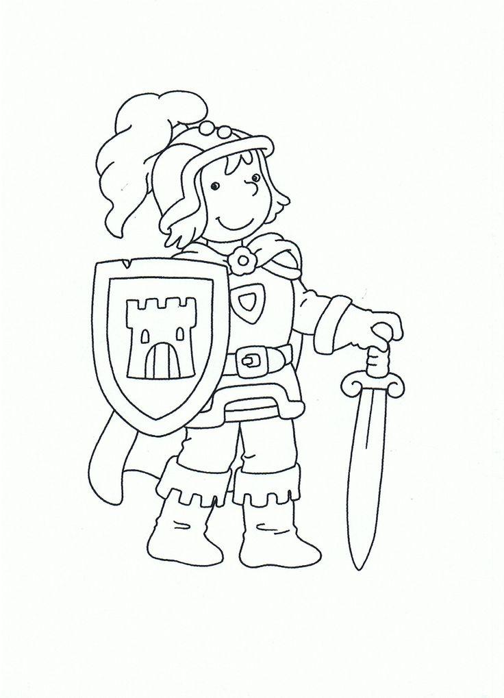Kleurplaat: ridder