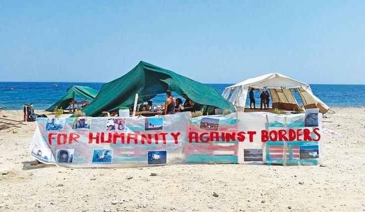 Οι «No Border» κατασκήνωσαν στη Μυτιλήνη