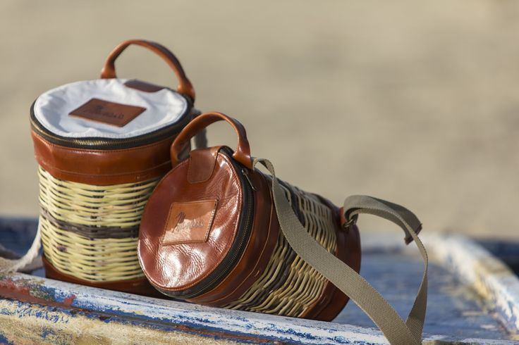 Basket Leather Backpack - Mosaic - Greek Designers - Made in Greece - Naxos Island - Cyclades of Greece - Boat Photography - Sandy Beach - Sunset - Summer Outfits - Spring Summer Collection - Brown Black Bag - Handmade - Cute and Spacious