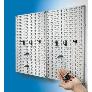 Description : Panneaux muraux porte outils avec boîtes de rangement...sur www.shopwiki.fr ! #porte_outils #bricolage #outillage
