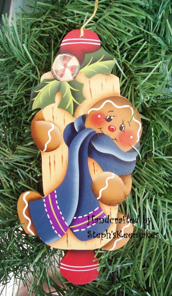 Handpainted  Christmas Cookie por stephskeepsakes en Etsy, $8.25
