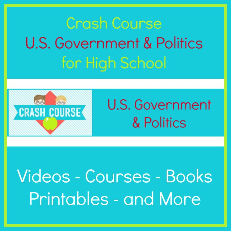 Crash Course U.S. Government & Politics is a series of videos and other resources to use for high school government and politics.
