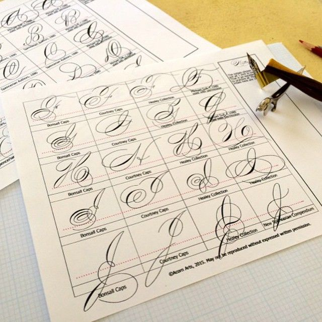 154 Best Images About Spencerian Hand Writing On Pinterest