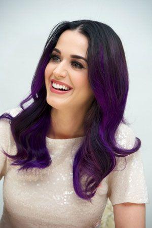 Katy Perry purple ombre