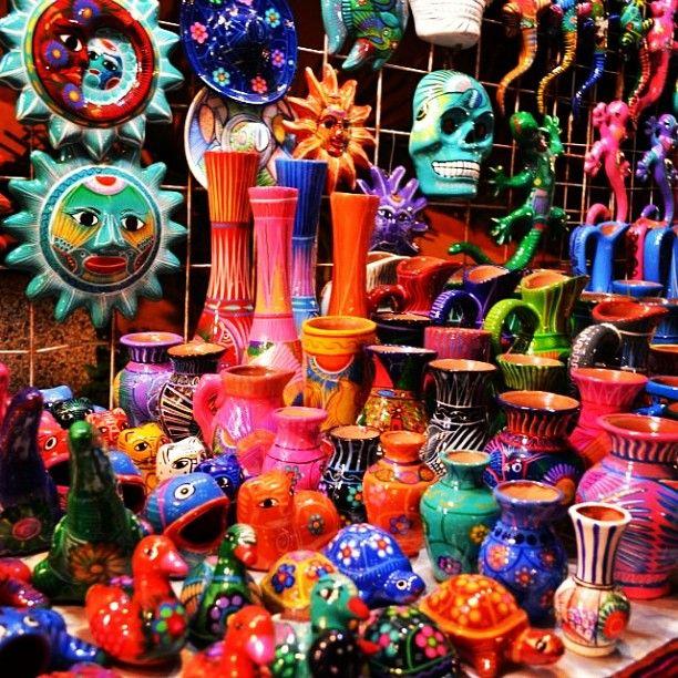 Colorful Mexican art and pottery! ASPEN CREEK TRAVEL - karen@aspencreektravel.com