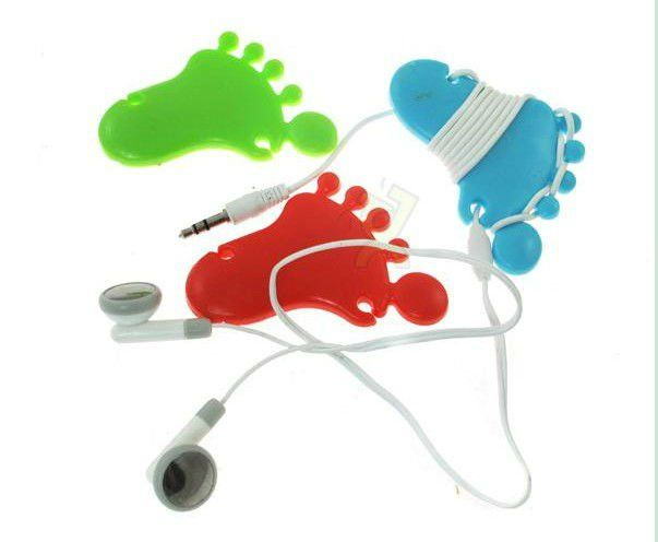 color foot Style HeadphoneEarphone rubber Wrap Cable tidy $0.2~$0.5