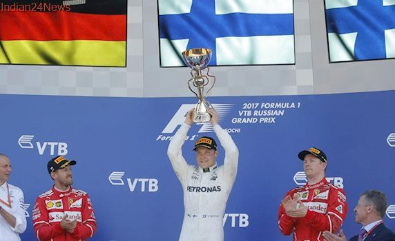 Russian Grand Prix: Valtteri Bottas beats Sebastian Vettel for first F1 win